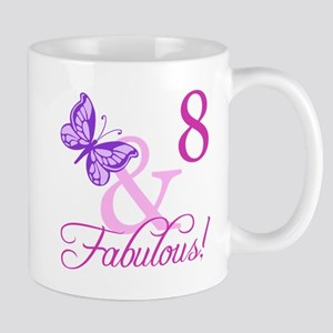 Fabulous 8th Birthday For Girls Mug