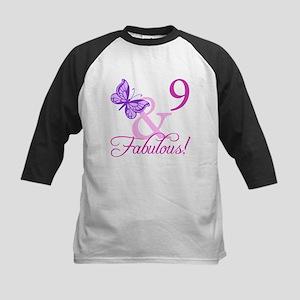 Fabulous 9th Birthday For Girls Kids Baseball Jers