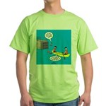 Canoeing the Wrong Way Green T-Shirt