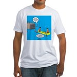 Canoeing the Wrong Way Fitted T-Shirt