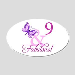 Fabulous 9th Birthday For Girls 20x12 Oval Wall De