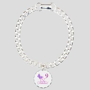 Fabulous 9th Birthday For Girls Charm Bracelet, On