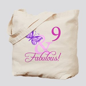 Fabulous 9th Birthday For Girls Tote Bag
