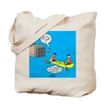 Canoeing the Wrong Way Tote Bag