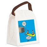 Canoeing the Wrong Way Canvas Lunch Bag