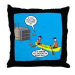 Canoeing the Wrong Way Throw Pillow