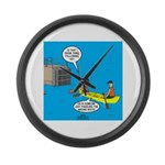 Canoeing the Wrong Way Large Wall Clock