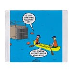 Canoeing the Wrong Way Throw Blanket