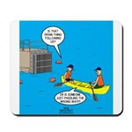 Canoeing the Wrong Way Mousepad