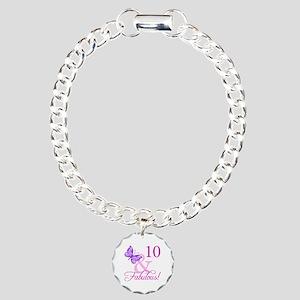 Fabulous 10th Birthday For Girls Charm Bracelet, O