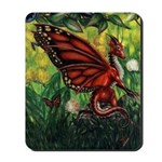"""""""Fairy Dragon"""" Red Fairy Dragon Mouse Pad"""