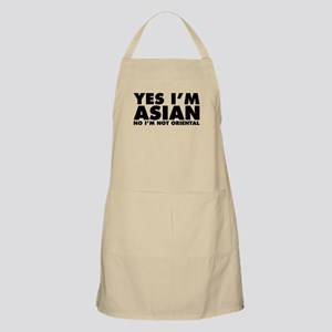 Yes I'm Asian No I'm Not Oriental Apron