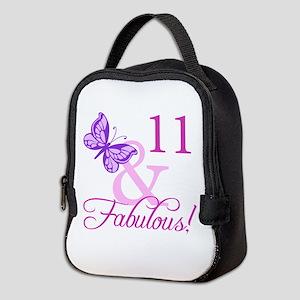 Fabulous 11th Birthday For Girls Neoprene Lunch Ba