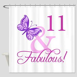Fabulous 11th Birthday For Girls Shower Curtain