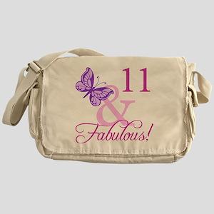 Fabulous 11th Birthday For Girls Messenger Bag