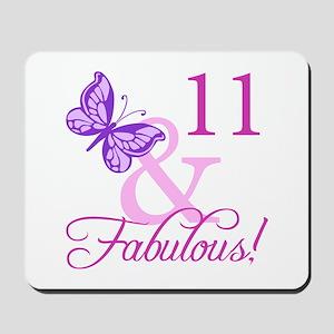 Fabulous 11th Birthday For Girls Mousepad