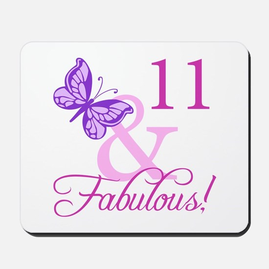 Fabulous 11th Birthday For Girls Mousepad
