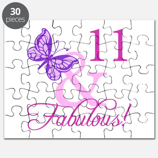 Fabulous 11th Birthday For Girls Puzzle