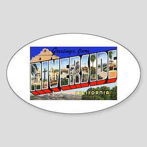 Riverside California Greetings Oval Sticker