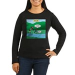 Live Streaming Women's Long Sleeve Dark T-Shirt