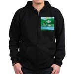 Live Streaming Zip Hoodie (dark)