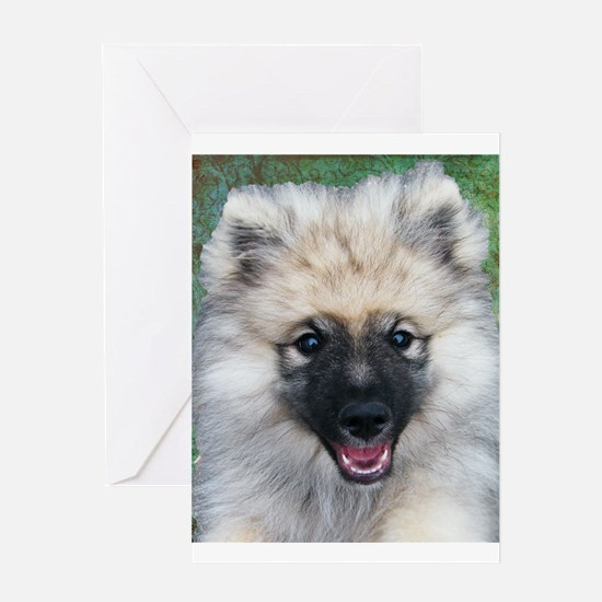 Keeshond Puppy Greeting Card