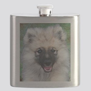 Keeshond Puppy Flask
