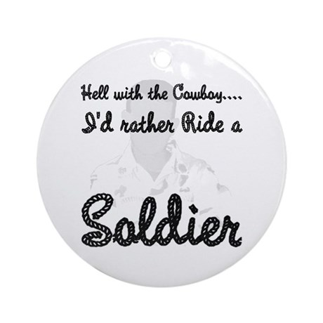 Ride a Soldier Ornament (Round)