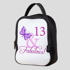 Fabulous 13th Birthday For Girls Neoprene Lunch Ba