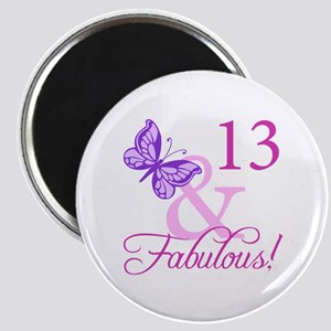 Fabulous 13th Birthday For Girls Magnet
