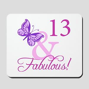 Fabulous 13th Birthday For Girls Mousepad