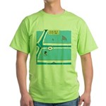 Shark in the Pool Green T-Shirt