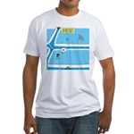 Shark in the Pool Fitted T-Shirt