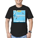 Shark in the Pool Men's Fitted T-Shirt (dark)