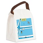 Shark in the Pool Canvas Lunch Bag