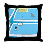 Shark in the Pool Throw Pillow