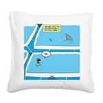 Shark in the Pool Square Canvas Pillow