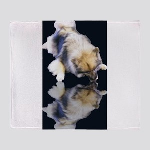 Keeshond Reflection Throw Blanket