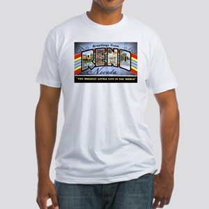 Reno Nevada Greetings (Front) Fitted T-Shirt