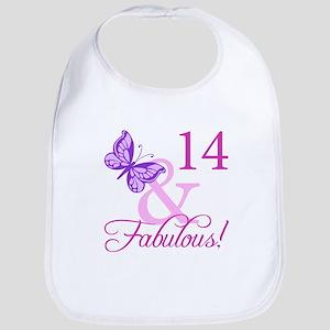 Fabulous 14th Birthday For Girls Bib