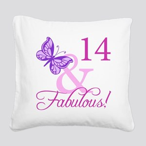 Fabulous 14th Birthday For Girls Square Canvas Pil