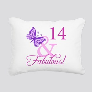 Fabulous 14th Birthday For Girls Rectangular Canva