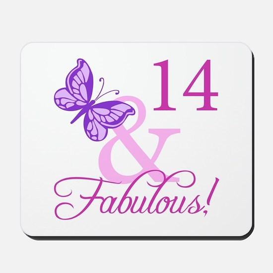 Fabulous 14th Birthday For Girls Mousepad