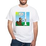 Beaver Wood Carving White T-Shirt