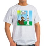 Beaver Wood Carving Light T-Shirt