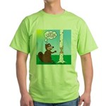 Beaver Wood Carving Green T-Shirt