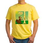 Beaver Wood Carving Yellow T-Shirt