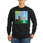 Beaver Wood Carving Long Sleeve Dark T-Shirt