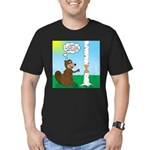 Beaver Wood Carving Men's Fitted T-Shirt (dark)