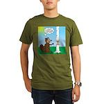 Beaver Wood Carving Organic Men's T-Shirt (dark)